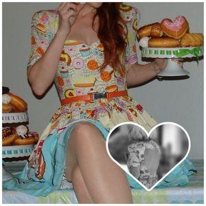 50's pinup Dress w/ Heart Cutout back detail